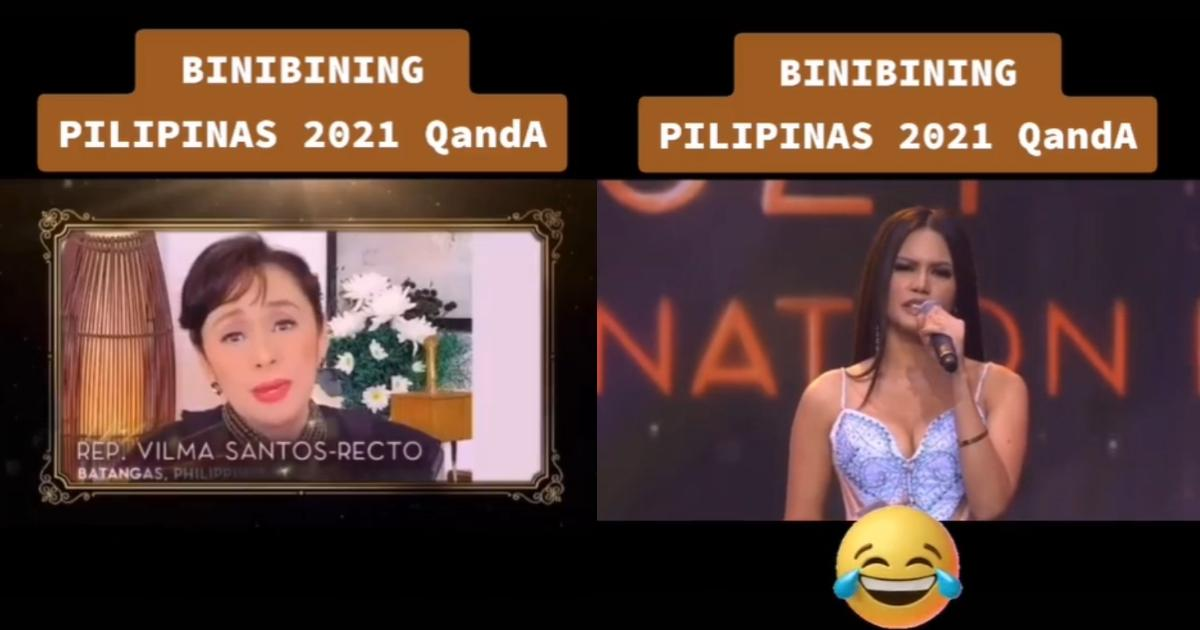 Netizen uses dialogue from Vilma Santos' classic film in hilarious edit of her Q&A with Bb. Pilipinas candidate
