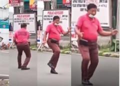 Dancing traffic enforcer in Lucena City