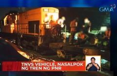 PNR train hits TNVS in Sta. Mesa, Manila
