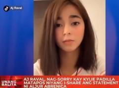 AJ Raval apologizes to Kylie Padilla